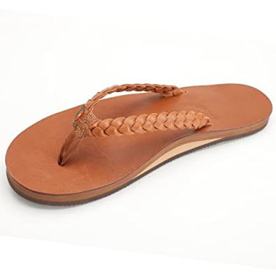 Rainbow Sandals Women's Twisted Sister Sandals Classic Tan Size Small (5.5-6.5)