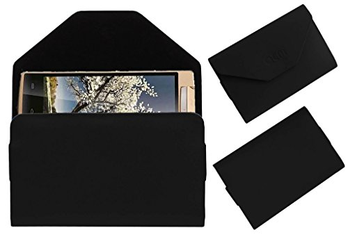 Acm Premium Pouch Case For Iball Andi Avonte 5 Flip Flap Cover Holder Black  available at amazon for Rs.179