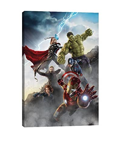 Avengers Attack Movie Poster Gallery-Wrapped Canvas Print