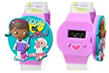 Disney Doc McStuffins Girls LCD Watch with Molded Flip Top