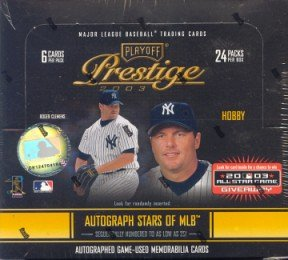 2003 Playoff Prestige Baseball Cards Hobby Box(24 packs/box)