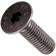 Class 12.9 Steel Socket Cap Screw, Plain Finish, Flat Head, Internal Hex Drive, Meets DIN 7991, 20mm Length, Fully Threaded, M6-1 Metric Coarse Threads (Pack of 100)