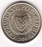1998 Cyprus 1 Cent Coin