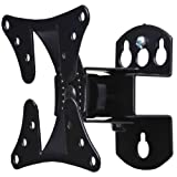 VideoSecu Adjustable Tilt & Swivel TV Wall Mount Bracket for LCD LED TV and Monitor (Max 44 lbs, VESA 100/75) Black 1FF