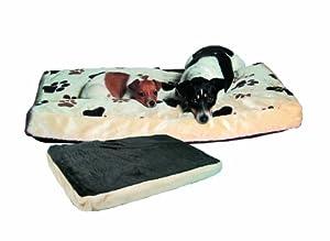 Trixie 37593 Gino Dog Cushion 80  55 cm Beige / Dark Brown