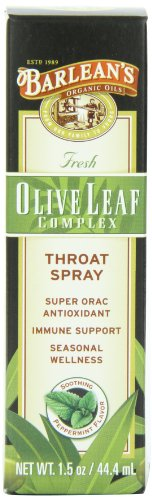 Barlean's Organic Oils Olive Leaf Complex Throat Spray, 1.5-Ounces (Oil Leaf Extract compare prices)