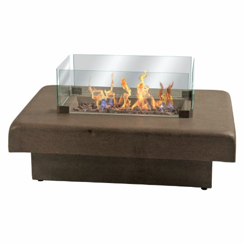 Gas Fire Table   Antique Bronze