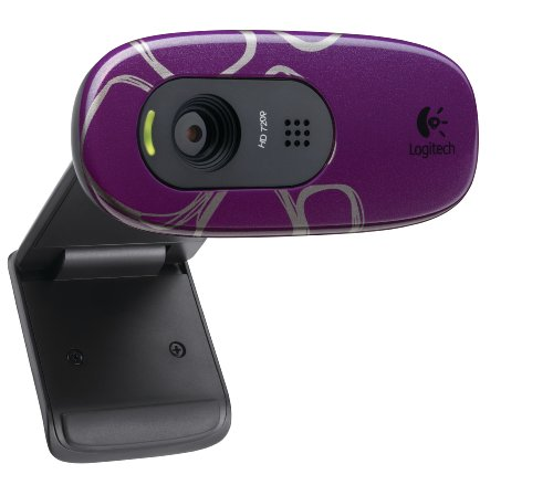 Logitech C270 HD Webcam Purple Pebbles
