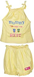 Amy Baby Girls' Dress (B06_C_1_3-6 Months, Lemon, 3-6 Months) - Special Offer with Free Delivery - 100% Cotton Exclusive Kidswear