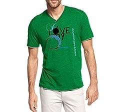 Dmovlov Men's Cotton T-Shirt (D5VN0M0G _Green_38)