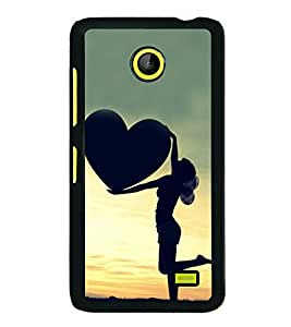 Girl with a Heart 2D Hard Polycarbonate Designer Back Case Cover for Nokia X :: Nokia Normandy :: Nokia A110 :: Nokia X Dual SIM RM-980 with dual-SIM card slots
