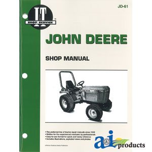 A & I Products Shop Manual Parts Replacement For John Deere Part Number Smjd61