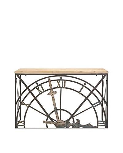Half-clock Console Table, Natural