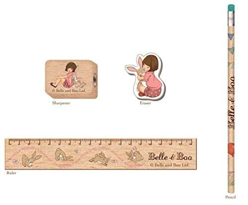 Belle & Boo Wooden Stationery Set