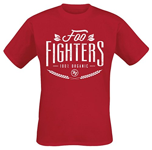 Foo Fighters 100% Organic T-Shirt rosso L