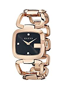 "Gucci Women's YA125409 ""G-Gucci"" Gold PVD Diamond-Accented Watch"