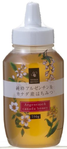 日新蜂蜜 純粋アルゼンチン&カナダ産 はちみつ 750g