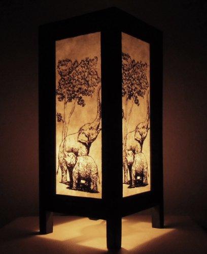 rare-asie-thai-lampe-de-tables-bouddha-style-chevet-famille-elephant-par-thailande