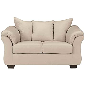 Darcy Loveseat in Stone Fabric