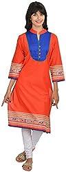 Goodyygoods Women's Cotton Regular Fit Kurti (GG 43, Red, X-Large)