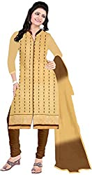 RADHE STUDIO Women's Cotton Un-Stitched Salwar Suit (RS12, Multi)