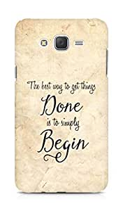 AMEZ the best way to get things done is to begin Back Cover For Samsung Galaxy J7
