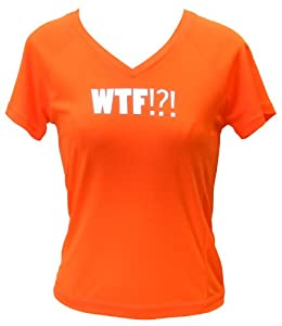 Women's Reflective Short Sleeve Where's the Finish (Orange, SM)