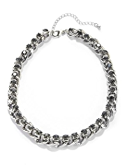 M&S Collection Diamanté Chain Collar Necklace