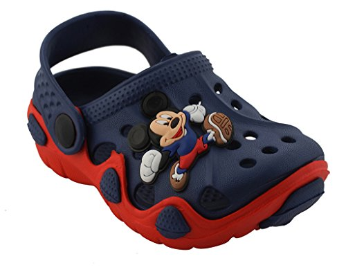 Lil Firestar Unisex Kids Eva Sandals Crocs Clogs_Red & Blue_11KIDSUK/29EU  available at amazon for Rs.419