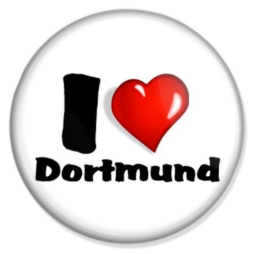 Button I love Dortmund - Dortmund Badge, Dortmund Pin, Dortmund Anstecker, Dortmund Button, Dortmund Ansteckpin