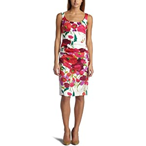 Amazon.com: Suzi Chin Women's Sleeveless Starbust Print Dress: Clothing from amazon.com