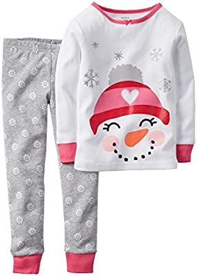 Girls Snowman Toddler Holiday Pajamas by Carter's
