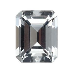 13.35 Cts of 18x13 mm AA Emerald Cut White Topaz ( 1 pc ) Loose Gemstone
