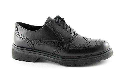 PREGUNTA 24760-16 nero scarpe donna francesina puntale inglese 38