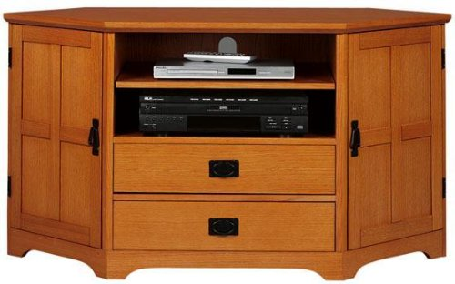 Cheap Craftsman Corner Wide screen Tv Stand W/ 2 Middle Drawers (B001LP8RMQ)
