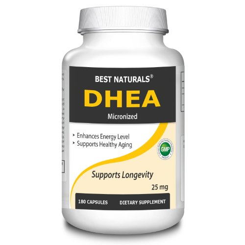 #1 Micronized Dhea 25 Mg 180 Caps By Best Naturals -- Promotes A Balanced Hormone Level -- Manufactured In A Usa Based Gmp Certified Facility And Third Party Tested For Purity. Guaranteed!!