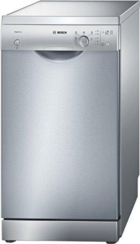 BOSCH-Lave vaisselle 45-Nombre de couverts : 9, Nombre de programmes : 5, Niveau sonore : 48 db, Consommation d'eau : 11 litres, Nombre de températures : 4, Classe énergétique : A+/A/A, Couleur : inox