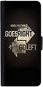 Snoogg Go Right Go Left Graphic Snap On Hard Back Leather + Pc Flip Cover Son...