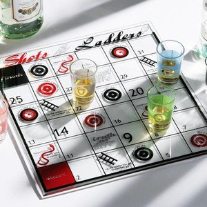 Snakes Ladders Drinking Game Shots Ladders Adult Novelty Game With Dice Glass Board 6