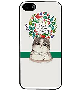 PrintDhaba Quote D-2875 Back Case Cover for APPLE IPHONE 5S (Multi-Coloured)