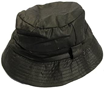 GIZZY® Unisex Showerproof Wax Bush Hat, Beanie Style. (58cm)