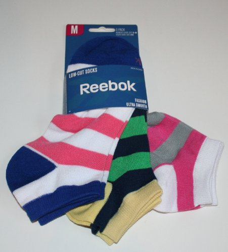Reebok Women's/Girl's Low Cut Ultra Smooth Socks - 3 Pair Size: 9-11 Multi