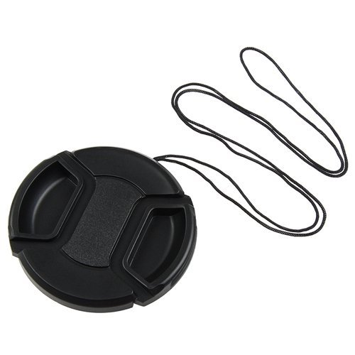 niceeshop(TM) 58mm Center Pinch Lens Cover With Cable for Canon SLR Cameras