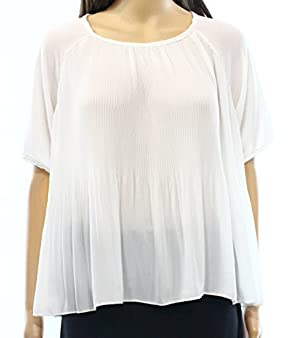 Romeo + Juliet Women's Medium Pleated Flutter Blouse