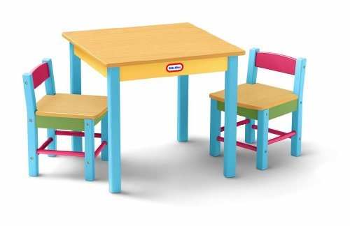 Looking For Little Tikes Deluxe Wooden Table Chairs Set