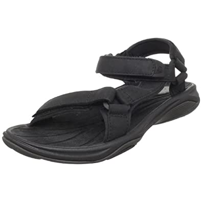 Teva Women's Pretty Rugged Leather 3 Sandal,Black,5 M US