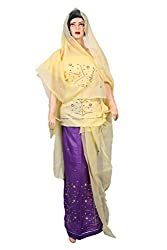 Woman's Pure Cotton Rajputi Dress Material Sunrise Paridhan (Lehenga,Kurti,Odhni)