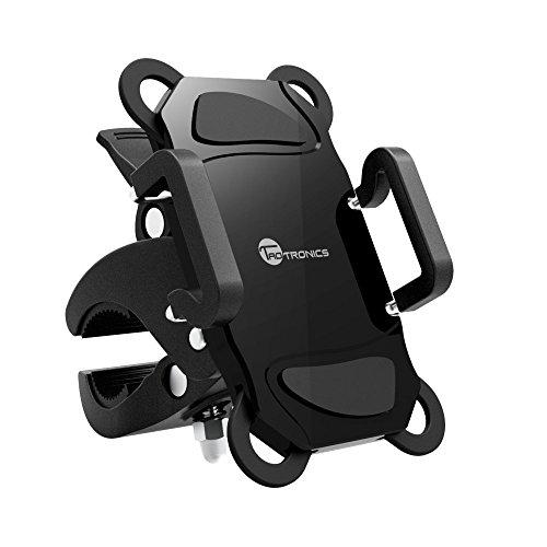 TaoTronics - Soporte de bicicleta para teléfono móvil,  smartphones, GPS y otros dispositivos electrónicos para Ciclismo - Rotación a 360º - Abrazadera de goma