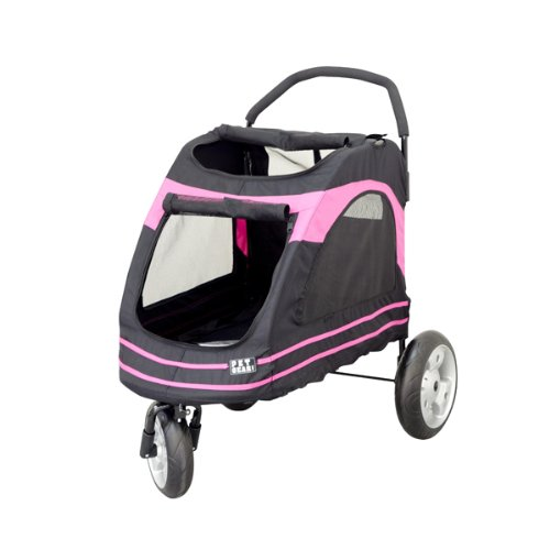 Pet Gear Roadster Pet Stroller for Cats and Dogs, Black/Pink