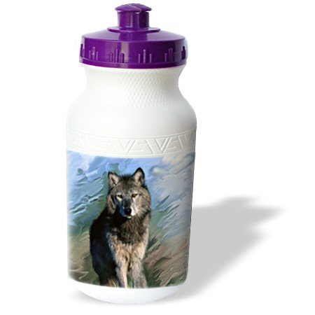 Wb_3938_1 Wild Animals - Wolf - Water Bottles